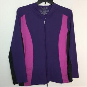 Soma Intimates XL Tranquility Hoodie Jacket Purple